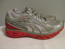 Puma Men's BioWeb Elite Running Shoes Sneakers - Gray / Red Size 7 US 6 UK