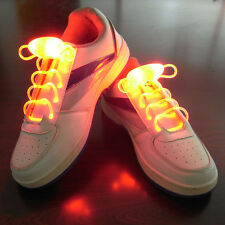 Orange LED Light Up Shoelaces Waterproof Shoestring -3 Modes Flashing