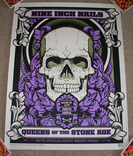 QUEENS OF THE STONE AGE Nine Inch Nails concert gig poster PERTH 3-11-14 2014