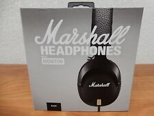 Marshall Monitor Over‑Ear Headphones with Mic ‑ Black w/ Canvas Pouch