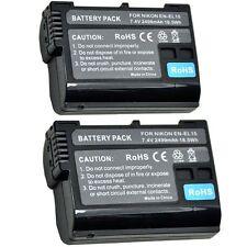 2 Fully Decoded 2499mAh Battery for Nikon EN-EL15 D7000 D7100 D800 D800E D600 V1