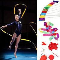 4M Dance Ballet Streamer Ribbon Gym Rhythmic Art Gymnastic Twirling Rod Baton