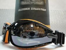 ATV MOTORCYCLE DIRT BIKE BIKER PADDED DAY RIDING GLASSES Black & Orange GOGGLES