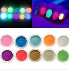 10 colors Glow in the Dark NAIL Fluorescent Tatuaggio Acrylic Powder decoration