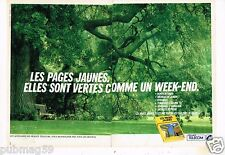 Publicité advertising 1990 (2 pages) Annuaires Les Pages jaunes France Telecom