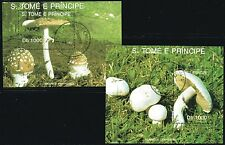 SAO TOME e PRINCIPE Mi. B283/84 - MUSHROOMS  S/S -1992  - very fine