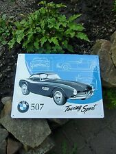 Official iconic BMW 507 Touring Sport Embossed Large Wall Sign - Made in Germany