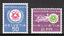 Switzerland / UN - 1963 UNCSAT - Mi. 38-39 MNH