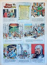 Prince Valiant by Hal Foster - full tab page color Sunday comic - Jan. 10, 1971