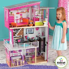 Kidkraft Luxury Dollhouse Gliding Elevator and 14 Pieces of Colorful Furniture
