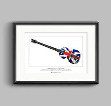 Paul McCartney's Hofner Jubilee Bass Ltd Edition Fine Art Print A3 size
