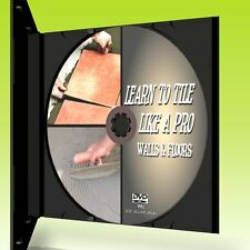 WALL & FLOOR TILING TUTORIAL DVD EASY 2 FOLLOW TILE LAYING GUIDE TIPS HINTS NEW