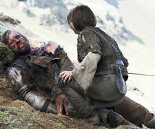 Maisie Williams and Rory McCann UNSIGNED photo - E412 - Game of Thrones