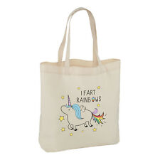 UNICORN I FART RAINBOWS TOTE SHOULDER BAG - Magical Animal Poop Glitter Unicorns