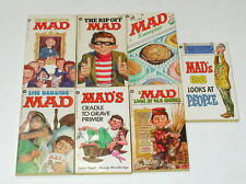 Lot of 7 Assorted Mad Series books F497