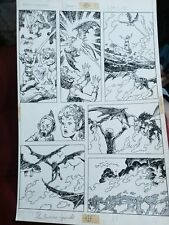 Weirdworld #? p.18 - vs. Dragons - 1980's Signed art by John Buscema