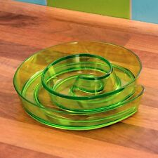 COLOURED SPIRAL SNACK & DIP DISH Tortillas Olives Sauce Finger Food Serving Bowl