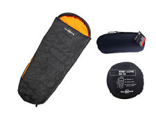 NEW MILESTONE SINGLE MUMMY SLEEPING BAG CAMPING FESTIVAL TRAVEL OUDOOR WARM COSY