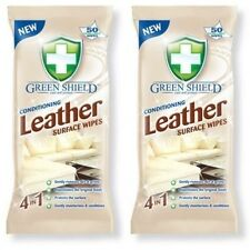 2 x Green Shield® Leather Conditioning Cleaning Surface Large 50 Sheet Trendy