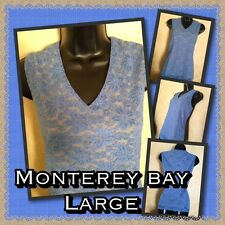 Monterey Bay-Dressy Sleeveless-Periwinkle/Nude-LG