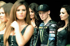 Bradley SMITH Signed 12x8 Paddock Photo AFTAL Autograph COA Yamaha Rider MOTOGP