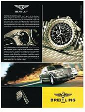 PUBLICITE ADVERTISING   2006     BREITLING   montre BENTLEY