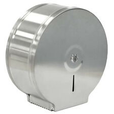 JUMBO TOILET PAPER ROLL DISPENSER WALL MOUNTED BRUSHED STAINLESS STEEL BATHROOM