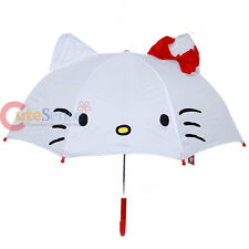 Sanrio Hello Kitty Umbrella with Ear Hello Kitty Face with 3D Ear and Bow