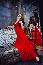Fashion woman dress Lipsy VIP collection UK, Formal, Full-Length, M, Red, Sexy
