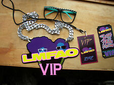 LMFAO  vip package from 2012 concert tour:chain sign,shades