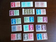 SE-TENANT DECIMAL MACHIN DEFINITIVES HORIZONTAL COLLECTION minimum face £5