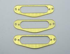 3x Gold Mirror Guitar Single Coil Pickup Surround Ring for Strat ST Sized Pickup