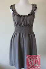 Anthropologie Floreat Size M Bungalow Gables Silk Dress Smocked Ruffles $138.