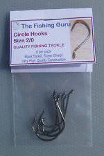 1x 6pack Size 2/0 QUALITY Circle Hooks - Aussie Seller