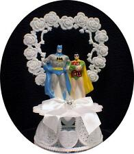 Batman and Robin Gay 2 Grooms Wedding Cake Topper LIFE PARTNER