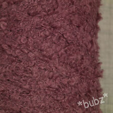 SUPER SOFT KID MOHAIR MERINO WOOL MAUVE 500g CONE 10 BALL LOOP BOUCLE YARN LILAC