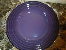 NEW LE CREUSET CASSIS PURPLE  SET  OF 2 PASTA SOUP BOWLS
