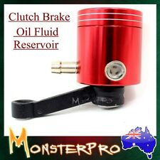 Universal Fit Motorcycle CNC RED Billet Front Brake Oil Fluid Reservoir KAWASAKI