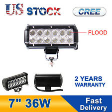 1PC 7INCH 36W Led Flood Work Light Bar Fog Lamp 4WD Truck Ute SUV 18W 27W
