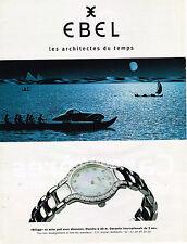 PUBLICITE ADVERTISING 045  1998  EBEL  montre BELUGA ETANCHE