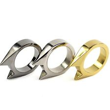 Creative ring defence brass knuckle necklace tactical ring spikes cat ears new