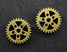 FREE SHIPPING - 8pcs Antique Brass Steam Punk Gear Bead Charms Pendants PND-459