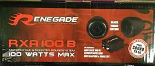 Renegade RXA100B 100 Watts Motorcycle/ATV/Marine Sound System Black