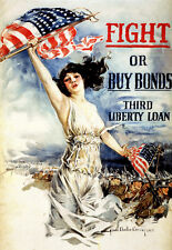 1917 Fight or buy bonds US   War  Print  Poster