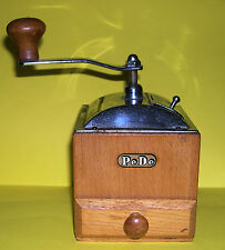 Vintage Pe De Coffee Grinder In Chrome & Wood. Fully Working In Good Condition.