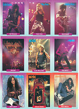 ROCKCARDS 1991 BROCKUM COMPLETE BASE CARD & STICKERS SET 288 & 18 ROCK MUSIC