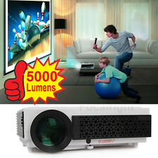 Multi-player 5000 Lumens 1080P LED96+HD Projector 3D LED LCD Home Theater Cinema