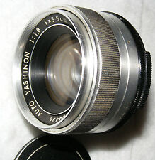 Yashica Auto Yashinon 5.5cm F1.8, 42mm screw (M42) Coated Std.Lens.Japanese