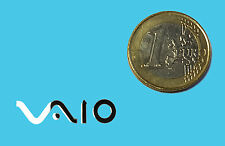 SONY VAIO METALISSED CHROME EFFECT STICKER LOGO AUFKLEBER 28x7mm [605]