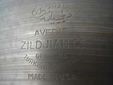 "Avedis Crash Ride Cymbal Zildjan 18"" Vintage-perfecto Estado-increíble tono"